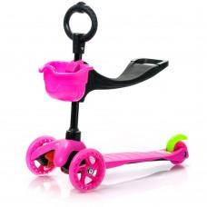Triratis paspirtukas Meteor Three-wheel pink