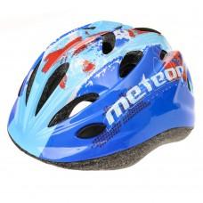 Vaikiškas dviratininko šalmas METEOR HB6-5 MAP BLUE