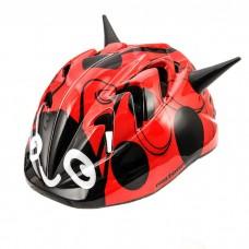 Vaikiškas dviratininko šalmas Meteor MV7 Ladybug