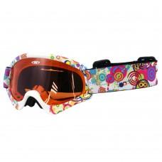 Vaikiški slidinėjimo akiniai WORKER Sterling su grafika
